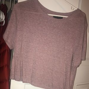 Cropped lilac/lavender/mauvey crop top